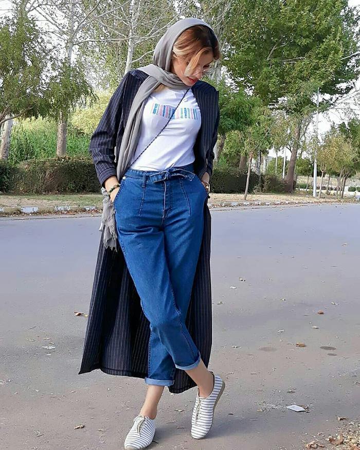 4c1631627ac1fc8b2be4b6473cb1d33d - ست کردن شلوار مام استایل با کفش و لباس به چه صورت است؟